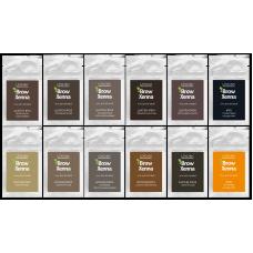 Полный набор BROWXENNA (BROW HENNA) — 12 оттенков (саше)