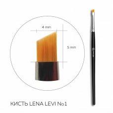 Кисть для брів скошена, надточна Lena Levi No. 1