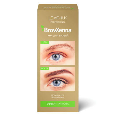 Henna do brwi Brow Henna, Pearl Blond nr. 1 (201), flakonik